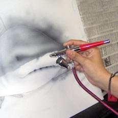 tecnica de dibujo de aerografo