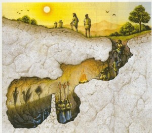 (Ilustración del Mito de la Caverna, de Platón)