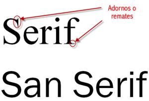 (Diferencia entre Serif y Sans-Serif)