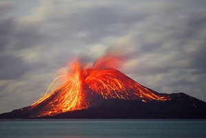 (Las erupciones volcánicas forman parte de los Desastres Naturales)