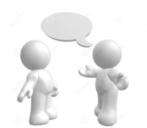 (En una conversación se necesitan al menos dos personas)